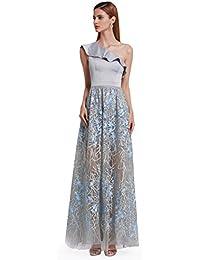 b38fddffbb Ever Pretty Women s Elegant One Shoulder Ruffles Unique Lace Floor Length Prom  Evening Homecoming Dresses 07194