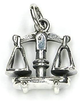 Waage Schmuck Sternzeichen Anhänger 925er Silber, Länge mit Öse: 2,5cm, Silberschmuck