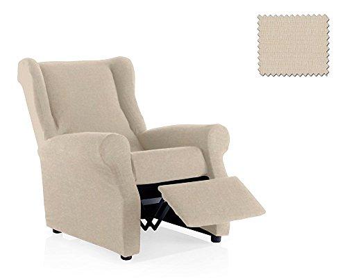 Housse de fauteuil relax Minerva Taille 1 place, Taille standard Couleur Ivoire (plusieurs couleurs disponibles)