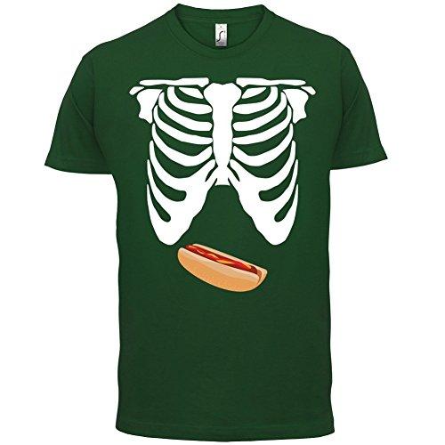Skelett Hotdog Bauch - Herren T-Shirt - 13 Farben Flaschengrün