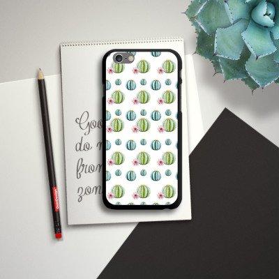 Apple iPhone SE Housse Outdoor Étui militaire Coque Cactus Motif Motif CasDur noir