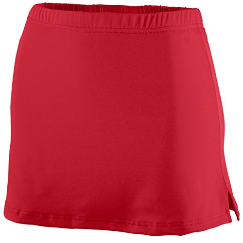 Ladies' Polyester/Spandex Team Skort RED L (Team Skort)