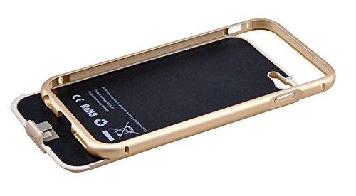 Buynow365 Coque Batterie 2800 MAH Ultra Slim Chargeur batterie de secours Power Bank Coque avec b¨¦quille pour Apple iPhone 7, iPhone 6, iPhone 6S 11,9 cm (Dor¨¦) Argent