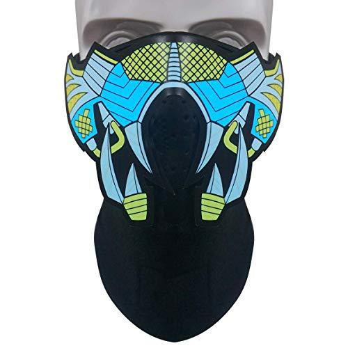 Neborn LED Masken Kleidung Große Terror Masken Kalt Licht Helm Feuer Festival Party Glowing Dance Stetige Voice-Activated Musik Maske
