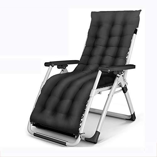 VIVOCC Falten Zero Gravity Chair, Verdicken sie Liege Lounge Chair Chaise Campingstuhl Bett Entspannen sie Sich Terrasse Outdoor Beach Office-D 52x75x86cm(20x30x34inch)