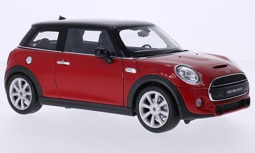Mini Cooper S, rot/schwarz, 2014, Modellauto, Fertigmodell, Welly 1:18
