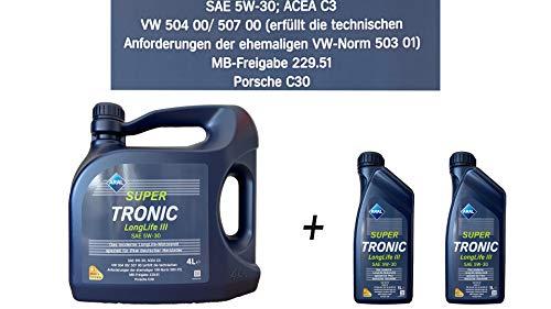 Aral Super Tronic Longlife III 5W-30 Motorenöl, 6L (4L+2X1L)