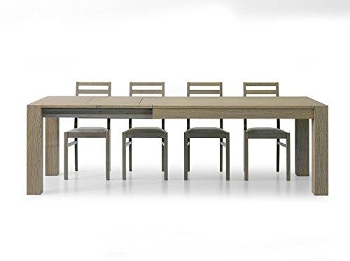 Fashion commerce fc640 tavolo spazzolato allungabile, legno, marrone, 180x90x75 cm