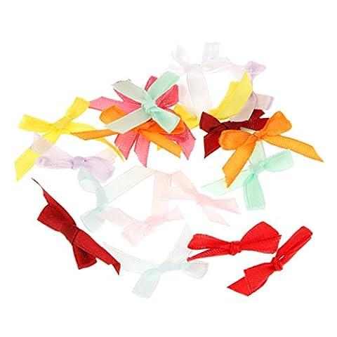 MagiDeal 100Pcs Mini 3cm Ribbon Bowtie Candy Box Gift Wrap Accessorie DIY Carft Wedding Party Favour