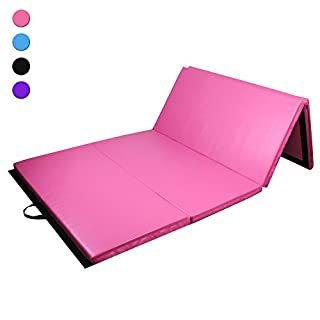 Prime Selection Products Folding Gymnastics Mat 240 cm, Tumble and Exercise Mat for Home; 240cm (8ft) Long * 120cm (4ft) Large * 5cm (2in) Thick