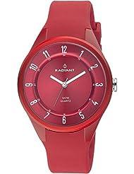 Radiant RA244603 - Reloj con correa de acero para hombre, color rojo / gris