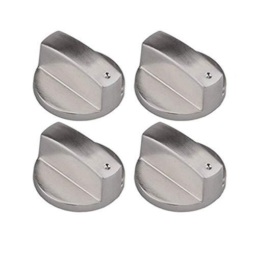 4 Piezas Metal 8mm Universal Plata Cocina de Gas Botones de Control...