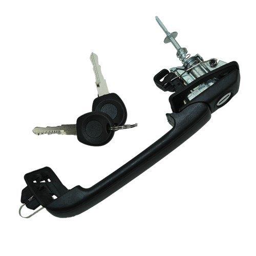 Preisvergleich Produktbild Türgriff vorne links + Schloss + Schlüssel + Schließzylinder