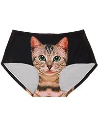 Escritos Inconsútiles Mujeres Bragas Ropa Interior De Impresión Minino Gato  Underpant Desnuda 15dd15873bb1