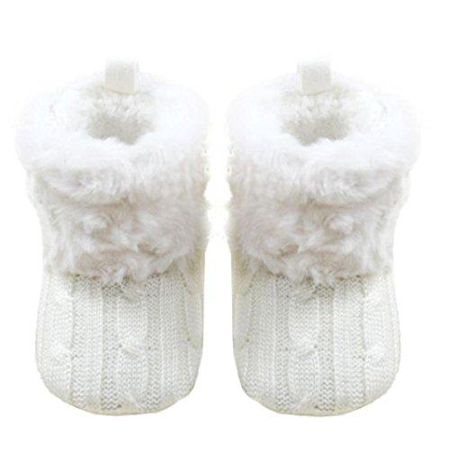 Culater® Bambino Snow Boots morbido panno Presepe Stivali scarpe bambino (11CM)