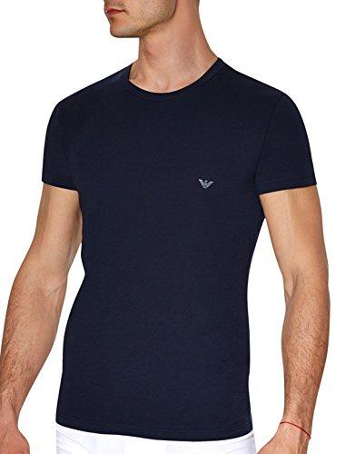 Emporio Armani -  T-shirt - Collo a U  - Maniche corte - Uomo Blu marino