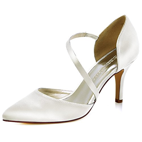 ElegantPark HC1711 Punta Estrecha de Las Mujeres Tacones de Aguja Zapatos de tacón Alto Correas Boda...