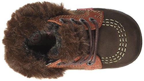Kickers Babyfrost, Chaussures Premiers Pas Bébé Garçon Marron (Marron Foncé/Orange Cho)