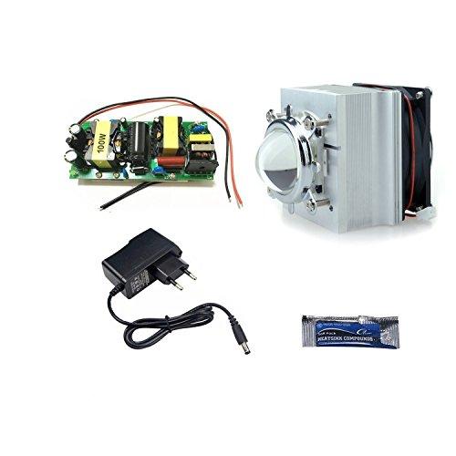 Tesfish DIY 100 W LED conductor + disipador de calor + lente...