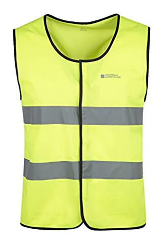 Mountain Warehouse Front Closure Iso-Viz Vest Cycling Running High Visibility Reflective Yellow Small / Medium