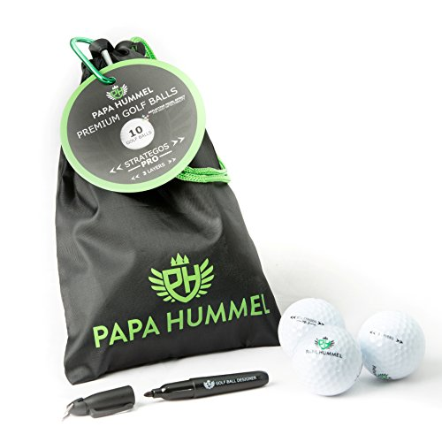 STRATEGOS PRO - 3 layer tournament golf balls by Papa Hummel