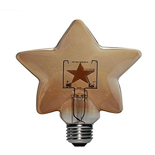 2, LED Retro fünfzackigen Star Restaurant Bar Bezeichnung Retro Design Deko Lampe E273W [Energieklasse A + +]