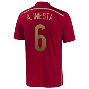 Adidas A. INIESTA #6 Espagne Maillot Domicile Coupe Du Monde (S)