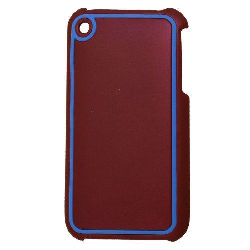 Maroon Blue hard plastic Beschermende Terug Shell voor iPhone 3G 3GS 3g 3gs Iphone