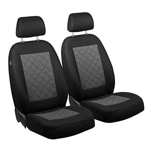 Zakschneider Matrix Vorne Sitzbezüge - für Fahrer und Beifahrer - Farbe Premium Schwarz-grau - Sitzbezüge Auto Toyota Matrix