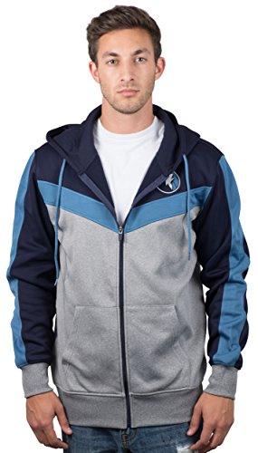 UNK NBA Herren gzm2948F NBA Zurück Schnitt Team Farbe Kontrast Full Zip Hoodie, Herren, GZM2948F, Midnight Blue Full Zip Screen-print Sweatshirt