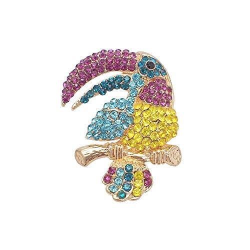 Fishroll Frauen Corsage, Mode großen Mund Vogel papagei brosche Set Bohrer brosche BH Unisex vielseitig kostüm Damen zubehör