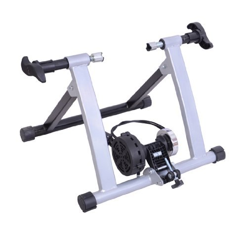 Rullo per bicicletta a magnete, per allenamento in casa, argento - NUOVO