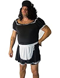 French Maid Stag Party Fancy Dress Mens Costume Small to Medium