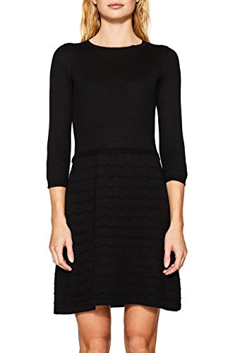 ESPRIT Damen Kleid 117EE1E001, Schwarz (Black 001), Small