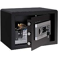 Caja Fuerte Convencionales de Seguridad, SLYPNOS - Caja de Seguridad (Regalo con 4 AA batterias+2 llaves de emergencia), Anti-Vibración Electroimán