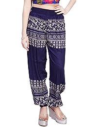 Comix Women Cotton Rayon Fabric Printed Harem Pants(AGSPL-3150)