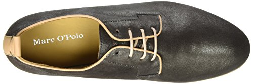 Marc O'Polo Damen 70114063401305 Lace Up Derby Grau (Anthracite)