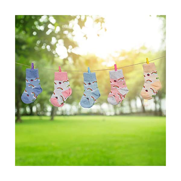 Calcetines de Bebé 5 Pares Cute Calcetines Antideslizantes de Algodón Surtidos Animal Print para Bebés Niñas y Niños 4