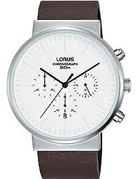 77f3d9be4b40 Lorus Reloj de Hombre Cuarzo 43mm Correa de Cuero Caja de Acero RT375GX8