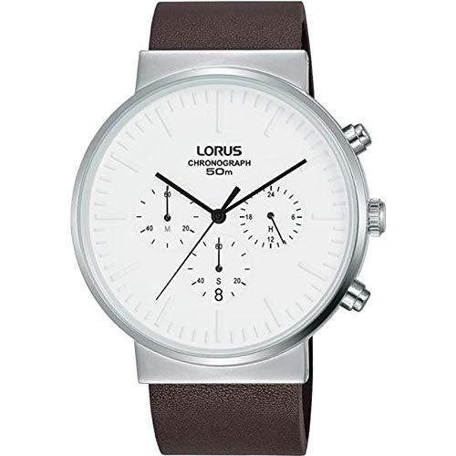 Lorus Reloj de Hombre Cuarzo 43mm Correa de Cuero Caja de Acero RT375GX8