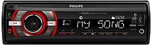 Philips CarStudio CE135BT/10 Bluetooth Noir récepteur multimédia de voiture - récepteurs multimédias de voiture (AM,FM, LCD, Noir, SD,SDHC, 188 x 140 x 58 mm, MP3,WMA)