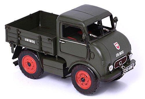 Metallmodell ~ Unimog 1950 ~ Oldtimer Auto Blechmodell 37228 Modellauto