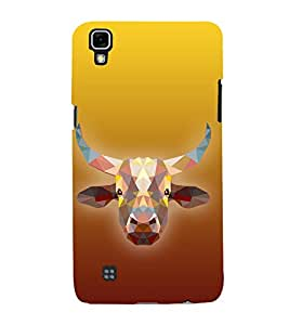 Cow is Ghai 3D Hard Polycarbonate Designer Back Case Cover for LG X Power
