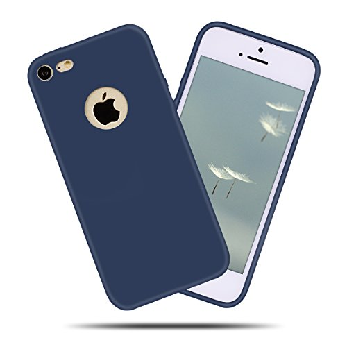 iPhone 7 (4.7 Zoll) Hülle , Kcdream Soft Handy Cover Ultra Slim Silikon Rückseite Schutzhülle Etui Handy-Tasche Back-Cover Bumper TPU Gummihülle stoßfeste Schutz-Cover Tasche mimt einzigartiges Einhor Blu