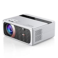Mainstayae Mini Projector 8000 Lumens Portable LCD Projector Full HD 1080P Supported, 180 Inch Projection, Compatible with Smartphone, TV Stick, Games, AV, Outdoor Projector for Home Theater Video