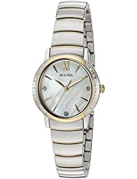 16fe63414 Bulova Women's 28mm Diamond Two-Tone Stainless Steel Bracelet Watch