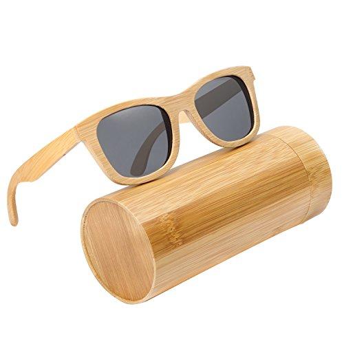 614f21be67d 2017 Luxury Handmade Bamboo Wooden Sunglasses UV Eyewear Accessories For  Unisex Men Women Square Outdoor Sunglass (gray) - Buy Online in Oman.