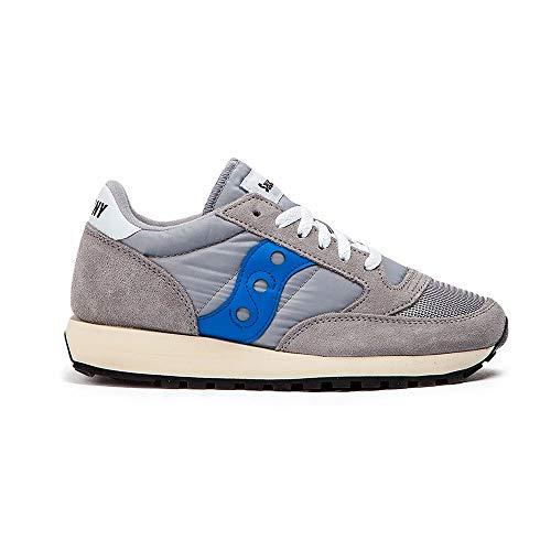Saucony Jazz Original Vintage, Zapatillas para Mujer, Gris (Grey/Blue), 37 EU