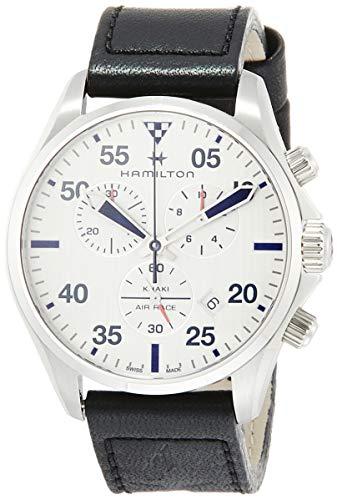 Hamilton Reloj de Hombre Cuarzo 44mm Correa de Cuero Caja de Acero H76712751