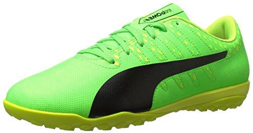 1. PUMA Men's Evopower Vigor 4 TT Soccer Shoe, Green Gecko-Puma Black-Safety Yellow